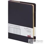Ежедневник полудатированный Bruno Visconti Profy натуральная кожа А5 208 листов черный (золотистый обрез, 152x222 мм)