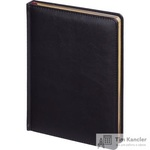 Ежедневник датированный на 2019 год Attache Sidney Nebraska искусственная кожа А5+ 168 листов черный (золотистый обрез, 145x205 мм)