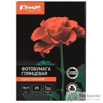 Фотобумага для цветной струйной печати Комус Photo (глянцевая, 10х15 см, 240 г/кв.м, 25 листов)