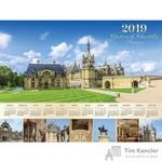 Календарь настенный на 2019 год Замок Франции (600х450 мм)