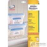 Этикетки самоклеящиеся Avery Zweckform морозостойкие белые 63.5x33.9 мм (24 штуки на листе А4, 25 листов, артикул производителя L7970-25)