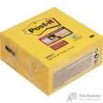 Стикеры Post-it 76х76 мм неоновые желтые (1 блок, 350 листов)