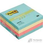 Стикеры Post-it Original Зима 76х76 мм пастельные 3 цвета (1 блок, 400 листов)