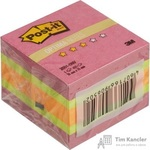 Стикеры Post-it Original Зима 51х51 мм неоновые 3 цвета (1 блок, 400 листов)