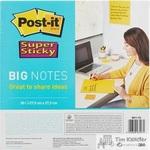 Стикеры Post-it Super Sticky BN11 279х279 мм неоновые желтые (1 блок, 30 листов)