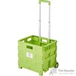 Тележка хозяйственная трансформер пластик зеленый 38x33x36 см