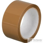 Клейкая лента упаковочная коричневая 48 мм x 55 м толщина 45 мкм