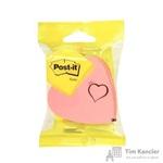 Стикеры фигурные Post-it Original куб Сердце 70х70 мм неоновые розовые (1 блок, 225 листов)