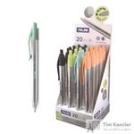 Ручка шариковая автоматическая масляная Milan Silver синяя (толщина линии 1 мм)