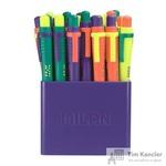 Ручка шариковая автоматическая масляная Milan Sway Mix синяя (толщина линии 1 мм)