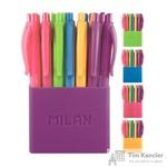 Ручка шариковая автоматическая масляная Milan P1 Colours 5 цветов (толщина линии 1 мм)