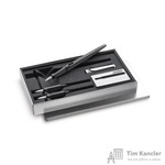 Набор письменных принадлежностей Lamy Joy (перьевая ручка серебристого цвета, 2 сменных пишуших узла, картриджи, колпачки-заглушки)