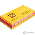 Стикеры Z-сложения Post-it Super Sticky 76х76 мм неоновые 2 цвета для диспенсера (6 блоков по 90 листов)