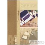 Блокнот Проф-пресс Офисная Классика А4 80 листов бежевый в клетку на  сшивке (205х300 мм)