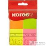 Стикеры Kores 40x50 мм неоновые 4 цвета (4 блока по 50 листов)