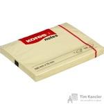 Стикеры Kores 100x75 мм пастельные желтые (1 блок, 100 листов)
