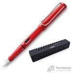 Ручка перьевая Lamy 016 Safari цвет чернил синий цвет корпуса красный (артикул производителя 4000181)