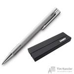 Ручка шариковая Lamy 206 Logo Brushed M16 цвет чернил синий цвет корпуса серебристый (артикул производителя 4026752)