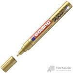 Маркер пеинт лаковый Edding E 750/53 золотистый (Толщина линии письма 2- 4 мм)