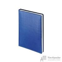 Ежедневник датированный на 2019 год Альт Velvet искусственная кожа А5+ 168 листов синий (146х206 мм)