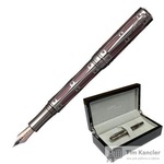 Ручка перьевая Pierre Cardin The One цвет чернил синий цвет корпуса серебристый (артикул производителя PC1001FP-05)