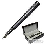 Ручка перьевая Pierre Cardin The One цвет чернил синий цвет корпуса черный (артикул производителя PC1001FP-07)