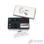 Набор письменных принадлежностей Lamy Joy (перьевая ручка черного цвета, 2 сменных пишуших узла, картриджи, колпачки-заглушки)