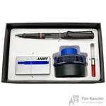 Набор письменных принадлежностей Lamy Safari (перьевая ручка цвета умбра, картриджи, конвертер, чернила 50 мл)