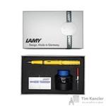 Набор письменных принадлежностей Lamy Safari (перьевая ручка желтого цвета, картриджи, конвертер, чернила 30 мл)