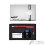 Набор письменных принадлежностей Lamy Safari (перьевая ручка красного цвета, картриджи, конвертер, чернила 30 мл)
