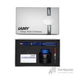 Набор письменных принадлежностей Lamy Safari (перьевая ручка синего цвета, картриджи, конвертер, чернила 30 мл)