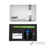 Набор письменных принадлежностей Lamy Safari (перьевая ручка зеленого цвета, картриджи, конвертер, чернила 30 мл)