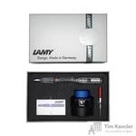 Набор письменных принадлежностей Lamy Vista (перьевая ручка прозрачная, картриджи, конвертер, чернила 30 мл)