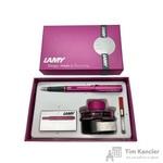 Набор письменных принадлежностей Lamy Al-Star (перьевая ручка розового цвета, картриджи, конвертер, чернила 50 мл)