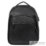 Рюкзак мужской Fabretti из натуральной кожи черного цвета (2-695K)