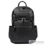 Рюкзак мужской Fabretti из натуральной кожи черного цвета (2-707K)