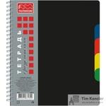 Бизнес-тетрадь Полином А5 120 листов черная в клетку на спирали (170х203  мм)