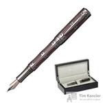Ручка перьевая Pierre Cardin The One цвет чернил синий цвет корпуса серебристый/красный (артикул производителя PC1001FP-13)