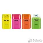 Ластик-точилка Milan Compact Fluo в ассортименте