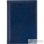 Ежедневник датированный на 2019 год Attache Небраска искусственная кожа A5 176 листов синий (148x218 мм)