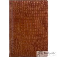 Ежедневник датированный на 2019 год Attache Croco Dedalo искусственная кожа A5 176 листов коричневый (золотистый обрез, 148x218 мм)