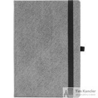 Ежедневник датированный на 2019 год Attache Силуэт Ламе искусственная кожа A5 176 листов серебристый (серый обрез, 150х217 мм)