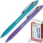 Ручка шариковая автоматическая Attache soft touch синяя (толщина линии 0,5мм)