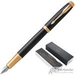 Ручка перьевая Parker IM цвет чернил синий цвет корпуса черный (артикул производителя 1931646)
