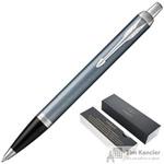 Ручка шариковая Parker IM цвет чернил синий цвет корпуса серо-голубой (артикул производителя 1931669)