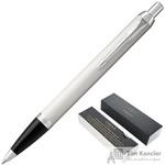 Ручка шариковая Parker IM Metal White цвет чернил синий цвет корпуса белый (артикул производителя 1931675)