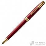 Ручка шариковая Parker Sonnet Lacquer Intense Red GT цвет чернил черный цвет корпуса красный (артикул производителя 1931476)