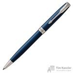 Ручка шариковая Parker Sonnet Blue Lacquer CT цвет чернил черный цвет корпуса синий (артикул производителя 1931536)