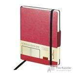 Ежедневник недатированный Альт Zenith искусственная кожа Soft Touch A5 176 листов бордовый (на резинке, 142х213 мм)