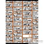 Тетрадь общая Книжные полки А4 48 листов в клетку на скрепке